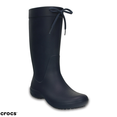 Crocs 卡駱馳 (女鞋) 飛揚長雨靴 203541-410