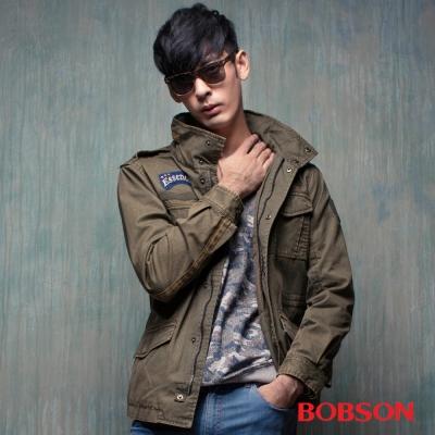 BOBSON-男款水洗半舊合身外套
