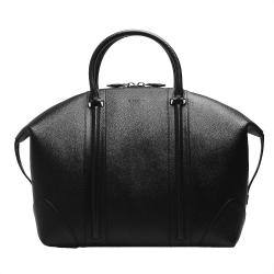 GIVENCHY Lucrezia Bugatti系列防刮小牛皮手提旅行包(黑)