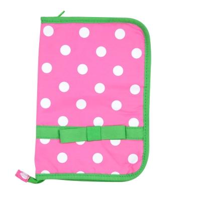 日本Hanna Hula-多用途手冊包-親子手冊/健保卡等(蝴蝶結綠)