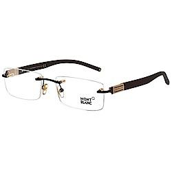 萬寶龍 MONTBLANC-時尚光學眼鏡(黑色)MB382-049