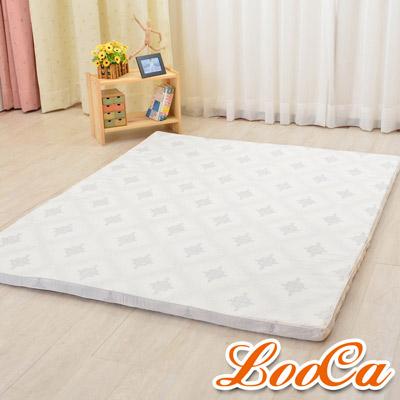 LooCa 棉柔5cm天然乳膠床墊-單人3尺