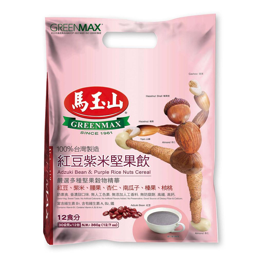 馬玉山 紅豆紫米堅果飲(30gx12入)