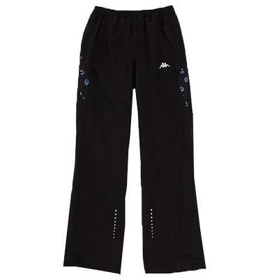KAPPA義大利舒適女單層風褲1件~黑/牡丹紫
