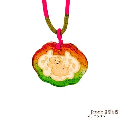 J'code真愛密碼 星月羊黃金彌月木盒-0.1錢