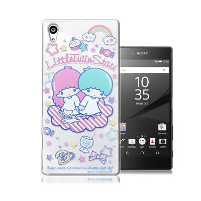 三麗鷗正版 雙子星Sony Z5 Premium 5.5吋透明軟式保護殼(休閒)