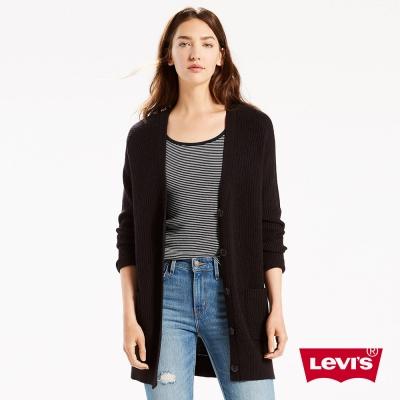 女裝 針織外套 長版 鈕扣 - Levis