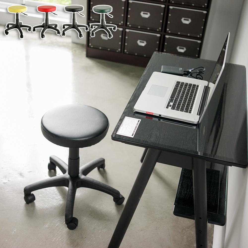 完美主義 皮革升降旋轉椅/圓椅/辦公椅(4色)