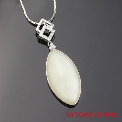 石頭記 925純銀和田玉項鍊-青睞風華