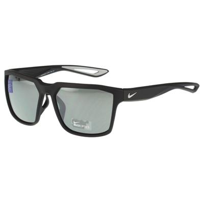 NIKE-反光運動太陽眼鏡黑色
