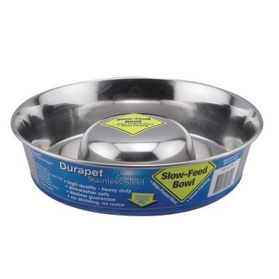 美國OurpetsDurapet 不鏽鋼防滑慢食寵物碗 (防吐碗) S號
