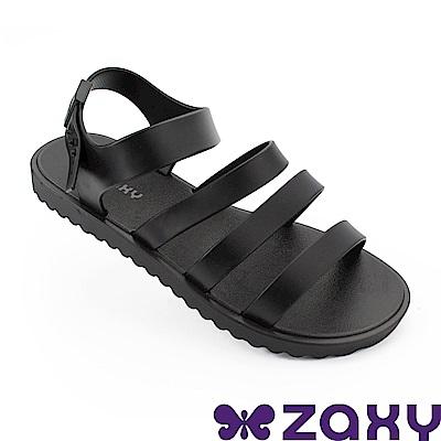 Zaxy 巴西 女 春日風采平底涼鞋-黑色