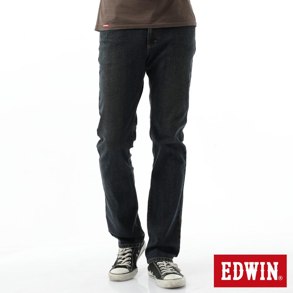 EDWIN 中直筒 基本五袋直筒牛仔褲-男-中古藍