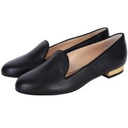 Charlotte Olympia ABC 創意拼貼平底鞋(黑色)