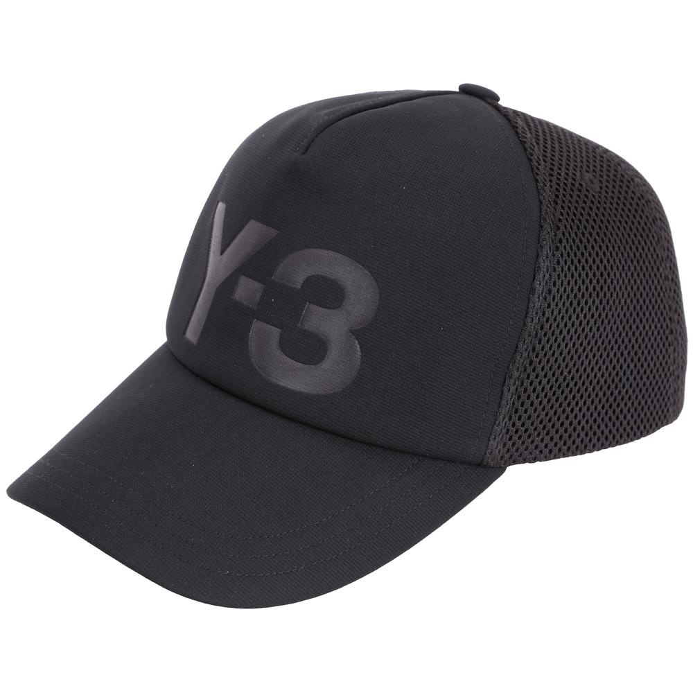 Y-3 Trucker 品牌字母LOGO棒球帽(黑色)