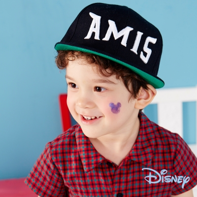 麗嬰房 Disney 米奇格紋男孩襯衫 格子