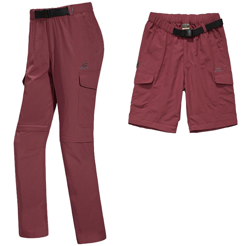 PUSH!機能面料褲速乾透氣耐磨可拆兩截褲長褲短褲五分褲女款