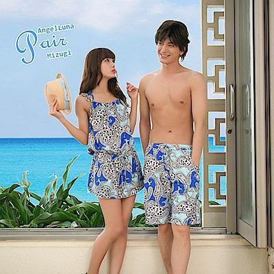 【AngelLuna日本泳裝】熱帶風情男款泳褲/海灘褲