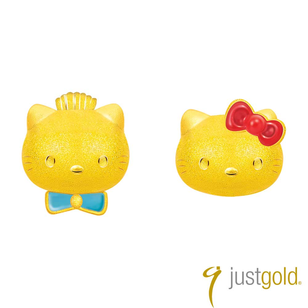 鎮金店Just Gold Kitty & Daniel 浪漫約定黃金耳環