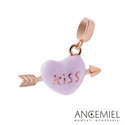 Angemiel安婕米串珠 925純銀吊飾 愛的親親