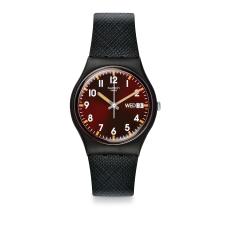 Swatch 原創系列 SIR RED 酷帥紅勁手錶-34mm