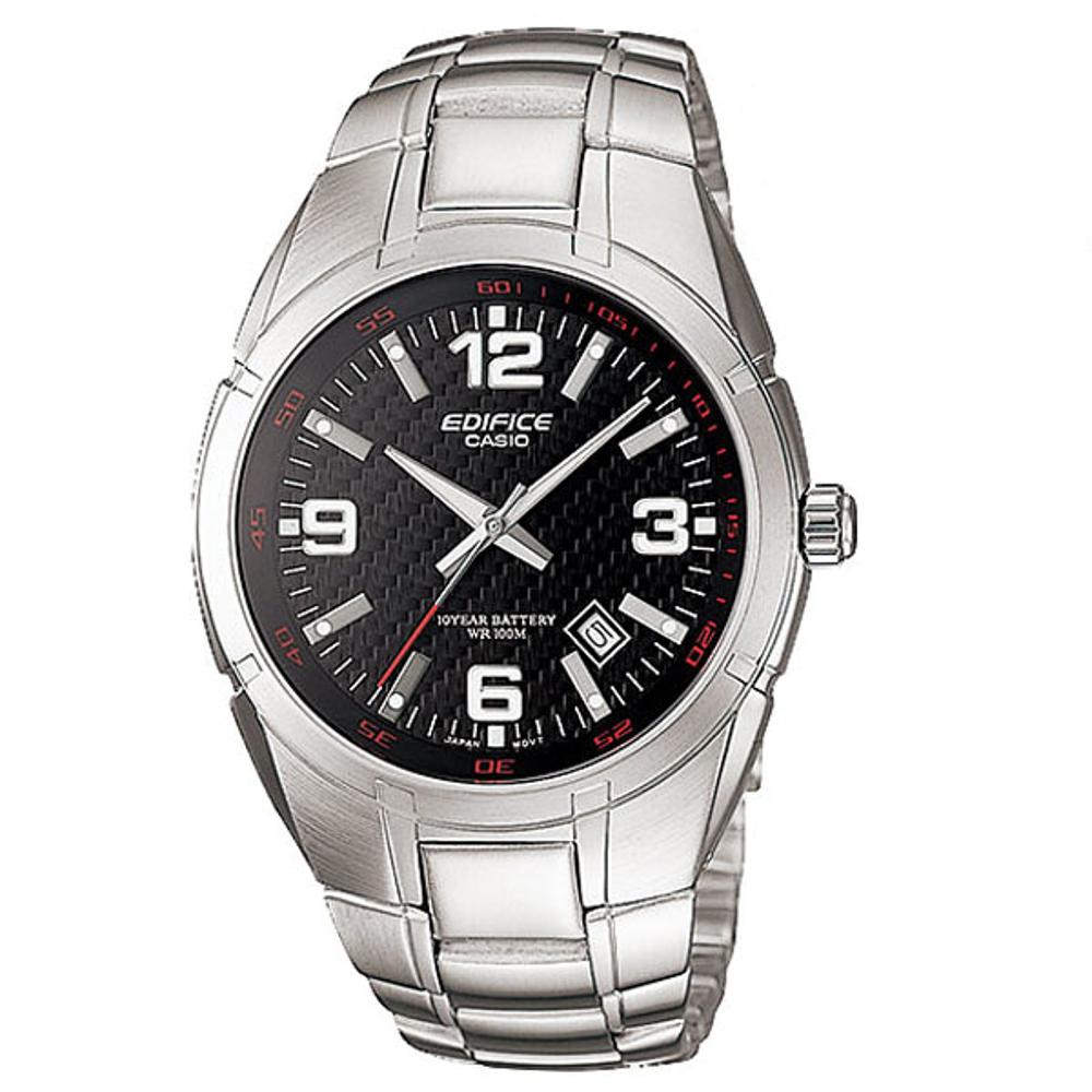 EDIFICE 經典城市悍將魅力運動錶-黑(EF-125D-1A)48.7mm