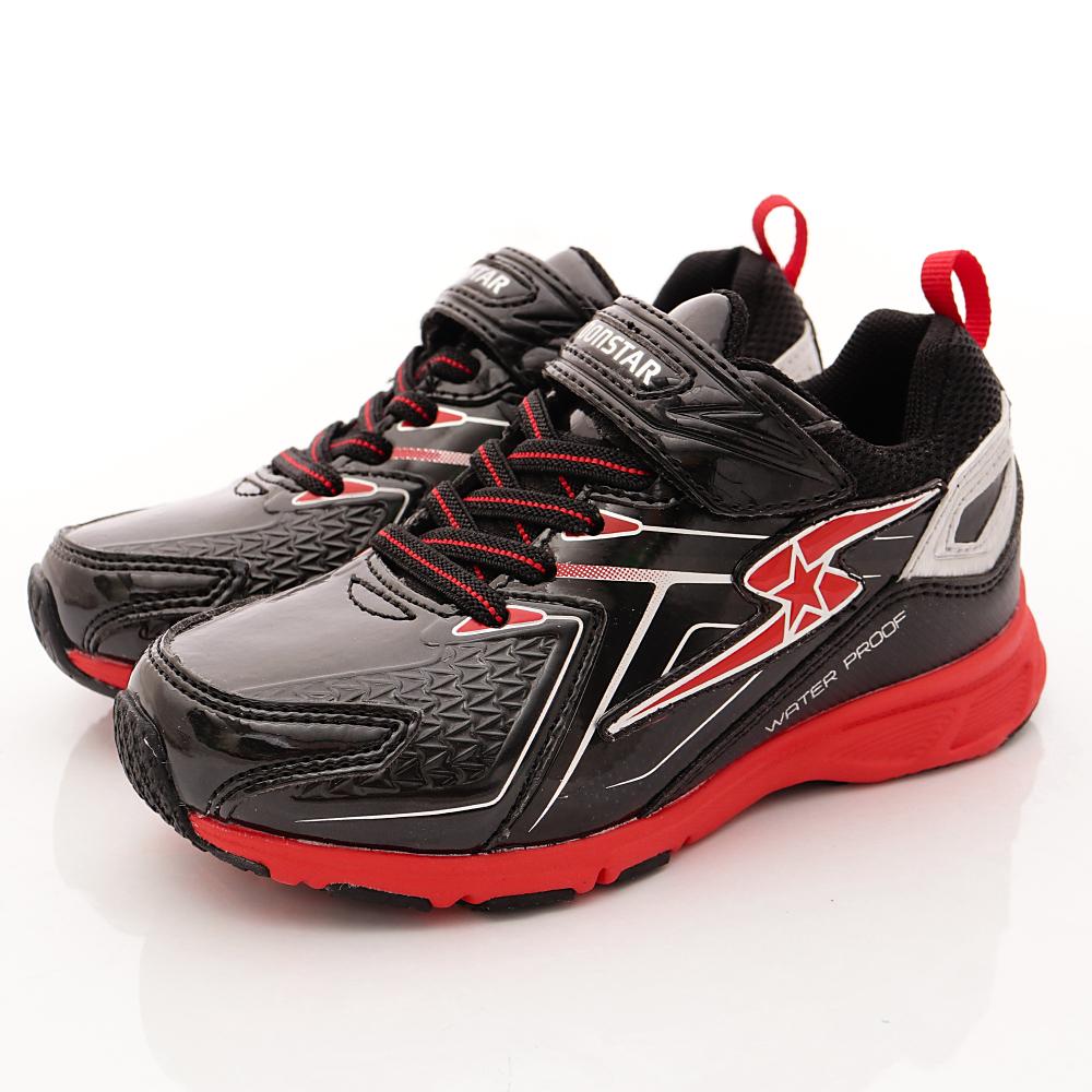 日本月星頂級童鞋 防潑水vs防滑運動鞋 EI266黑(中大童段)