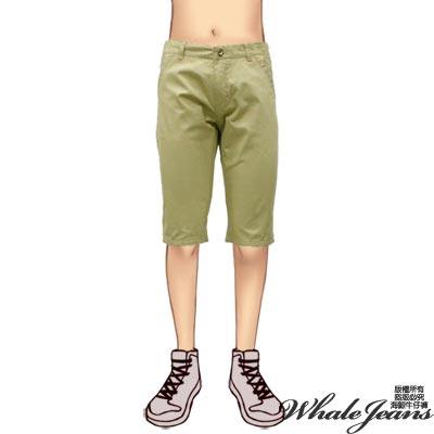 WHALE JEANS 男款韓風時尚個性百搭中腰中褲