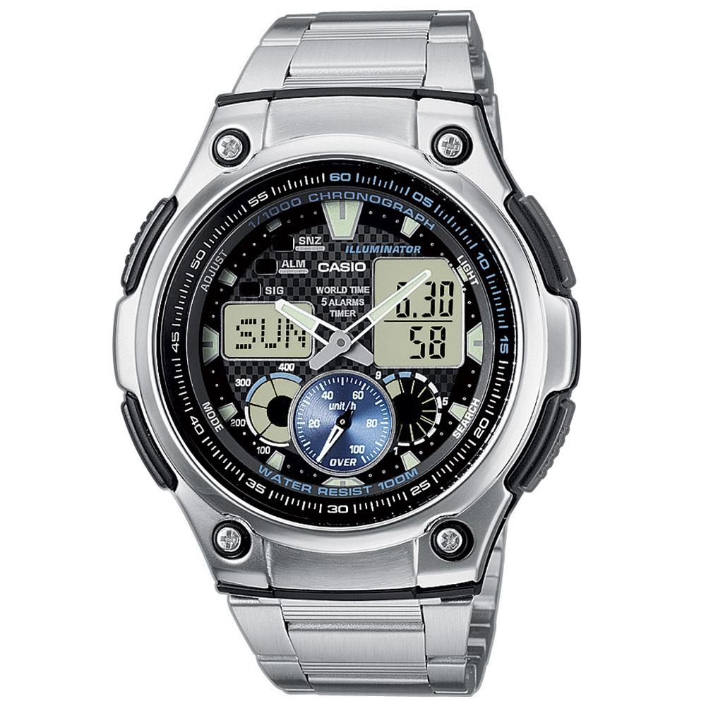 CASIO 超世代城市光廊雙顯指針錶(AQ-190WD-1A)