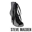 STEVE MADDEN-FEVER 露趾亮片高跟裸靴-銀色