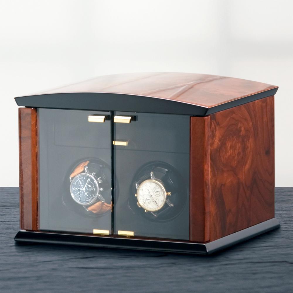 ELMA MOTION  Corona 2 機械錶自動上鍊收藏盒-實木/2只裝