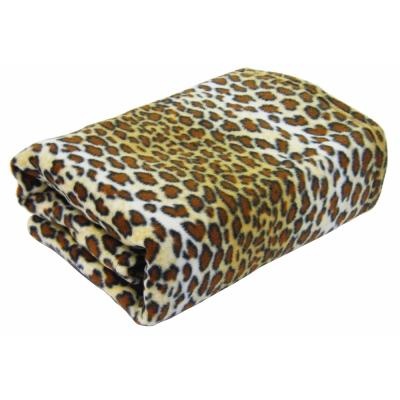 [快]onemall.99雙面超細纖袖毯-豹紋