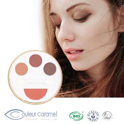 CouleurCaramel焦糖色-輕妝多維爾-眼影頰彩盒