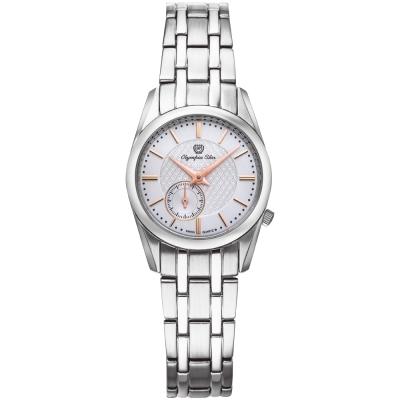 Olympia Star奧林比亞之星 經典都會系列小秒針時尚腕錶-白/26mm