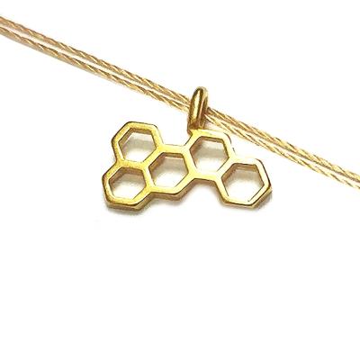 Dogeared 蜂巢項鍊 金墜蜂蜜色棉繩 honeycomb 享受甜蜜人生
