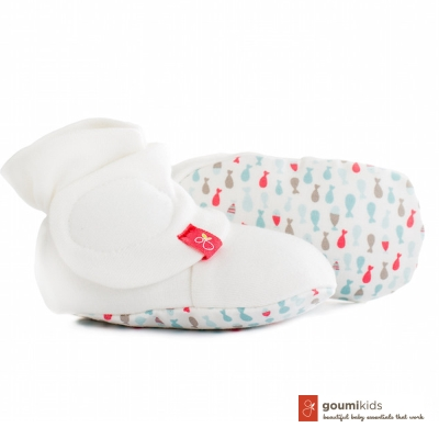 美國 GOUMIKIDS 有機棉嬰兒腳套 (小魚群-甜心)