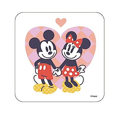 【迪士尼獨家授權】普普風珪藻土吸水杯墊/皂盤 -牽手擁愛