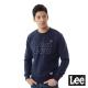 Lee 厚T 白色LOGO車線-男款-藍