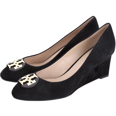 TORY BURCH Luna Suede 麂皮楔型跟鞋(黑色)