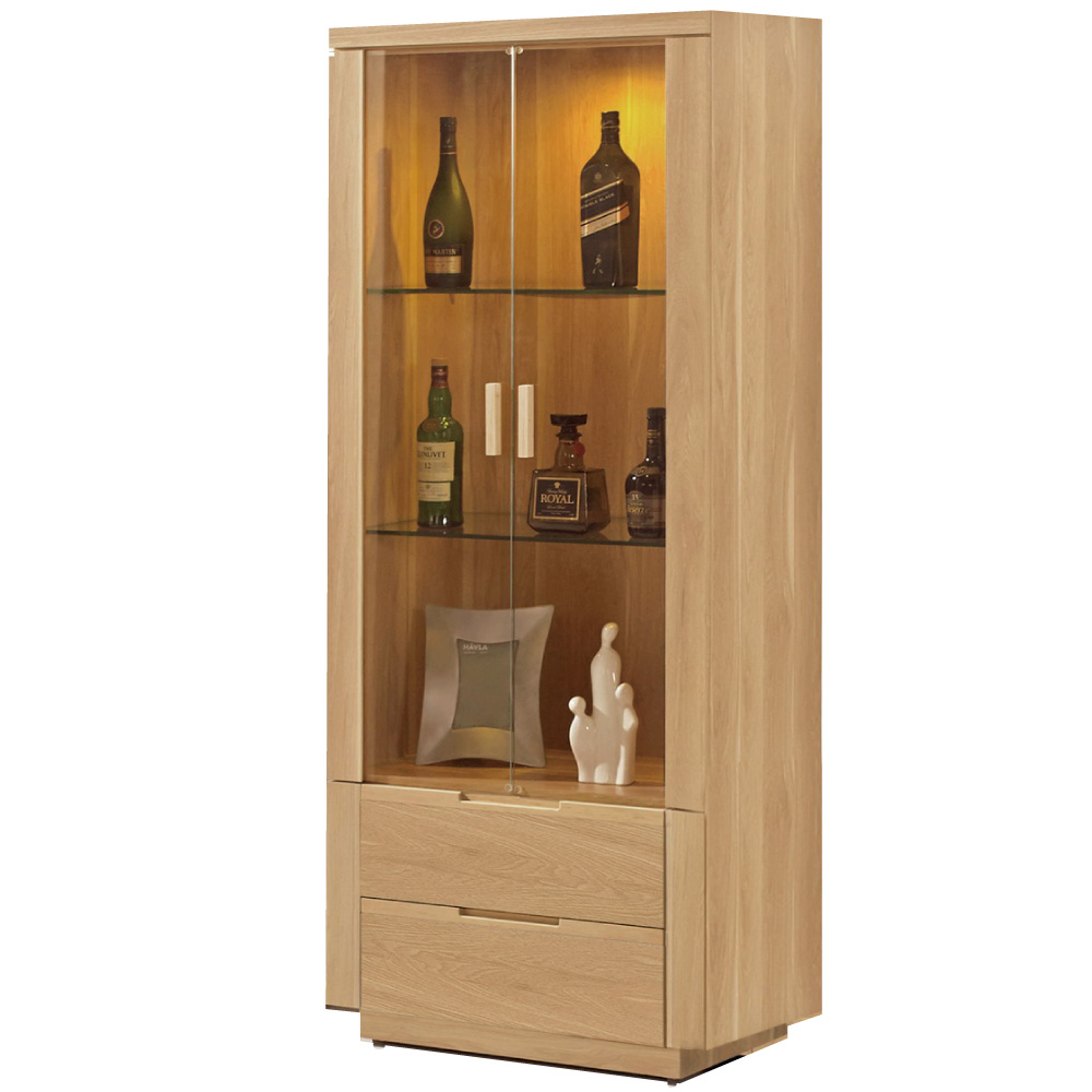 品家居 馬修2.5尺展示櫃/收納櫃-75x40x180cm-免組