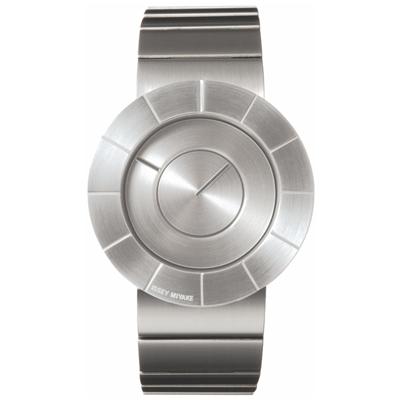 ISSEY MIYAKE 三宅一生TO系列 前衛金屬設計手錶SILAN001-銀/38mm