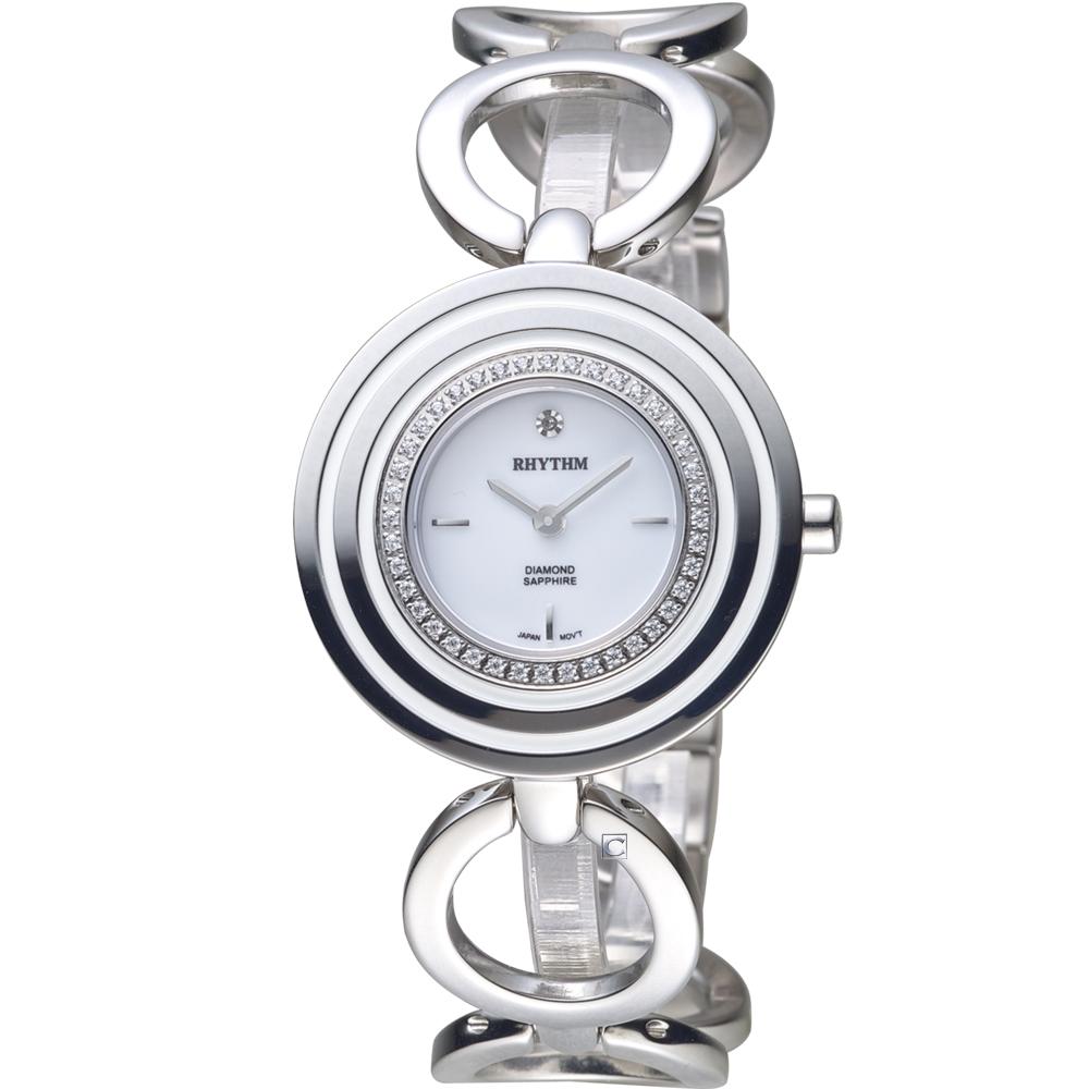 日本麗聲錶RHYTHM縷空輕巧手環錶(L1302S01)-34mm
