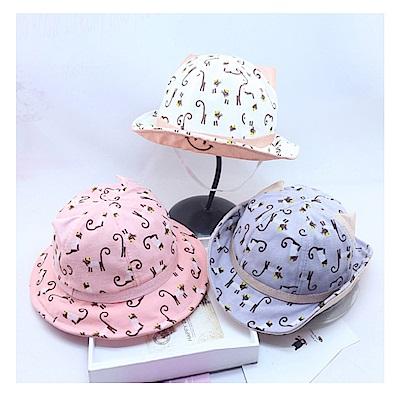 可愛貓咪兒童遮陽盆帽