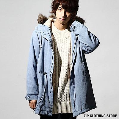 M51絨毛軍裝大衣(3色) ZIP日本男裝