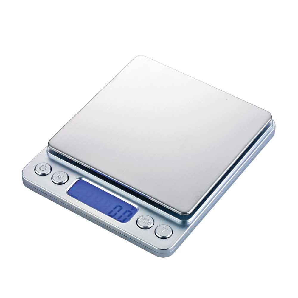 I-2000 電子磅秤 3000g/0.1g-銀色款(HK0516S)