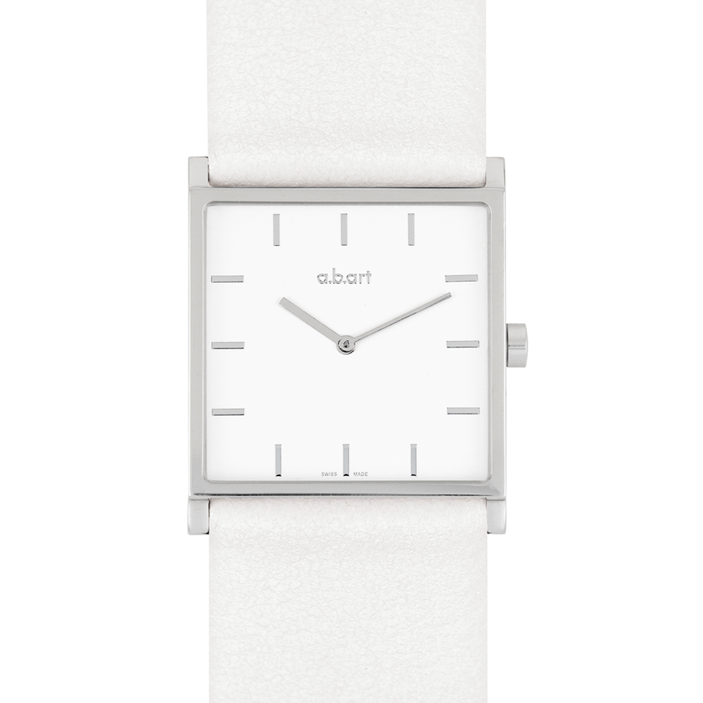a.b.art E系列 極簡洗鍊都會時尚腕錶-白/29mm