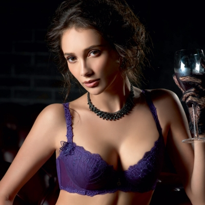 LADY 阿蒂蜜絲系列  B-F罩內衣(迷情紫)