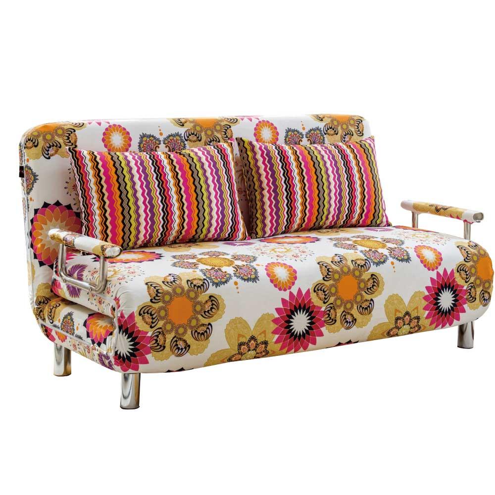 品家居 聖地斯亞麻布拉合式沙發床-155x80x73cm-免組