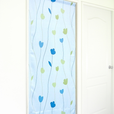 布安於室-花影風水簾-藍色