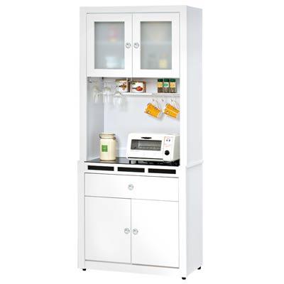 時尚屋裕隆貝多美白色 3 尺碗櫃組
